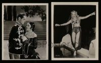 6d349 LOT OF 2 8X10 STILLS '30s-50s great images of Robert Montgomery & sexy harem girl!