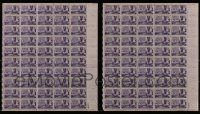 6d204 LOT OF 2 CALIFORNIA GOLD RUSH CENTENNIAL STAMP SHEETS '48 100 stamps that were never used!