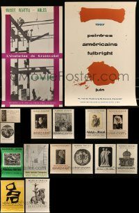 6d437 LOT OF 16 UNFOLDED 1950S ART MUSEUM POSTERS '50s cool images for different exhibits!