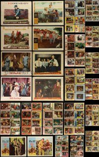 6d135 LOT OF 146 LOBBY CARDS '50s-60s incomplete sets from a variety of different movies!