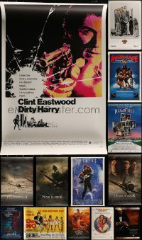 6d421 LOT OF 16 UNFOLDED REPRODUCTION , COMMERCIAL, AND VIDEO POSTERS '80s-90s cool images!