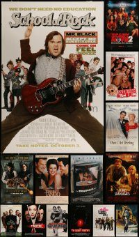 6d515 LOT OF 19 UNFOLDED DOUBLE-SIDED 27X40 MOSTLY COMEDY ONE-SHEETS '90s-00s cool images!