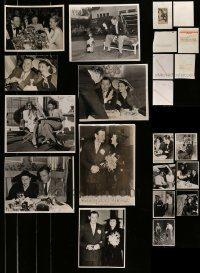 6d323 LOT OF 15 HERBERT MARSHALL AND LEE RUSSELL 8X10 NEWS PHOTOS '40-47 when they were married!