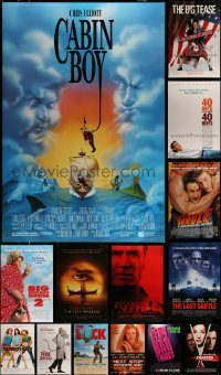 6d533 LOT OF 17 UNFOLDED DOUBLE-SIDED 27X40 MOSTLY COMEDY ONE-SHEETS '90s-00s cool images!