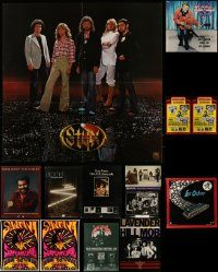 6d422 LOT OF 16 UNFOLDED MUSIC POSTERS '80s-00s great images for new album releases!