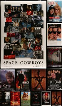 6d540 LOT OF 16 UNFOLDED DOUBLE-SIDED MOSTLY 27X40 ONE-SHEETS '90s-00s cool movie images!