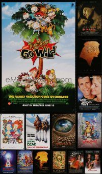 6d546 LOT OF 16 UNFOLDED DOUBLE-SIDED 27X40 MOSTLY ANIMATION ONE-SHEETS '90s cool movie images!