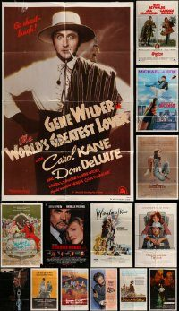 6d128 LOT OF 19 FOLDED ONE-SHEETS '70s-80s great images from a variety of different movies!