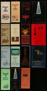 6d215 LOT OF 15 ACADEMY AWARDS REMINDER LIST AND RULES BOOKLETS '80s-90s eligible releases!