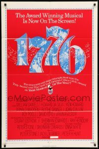 6f013 1776 1sh '72 William Daniels, the award winning historical musical comes to the screen!