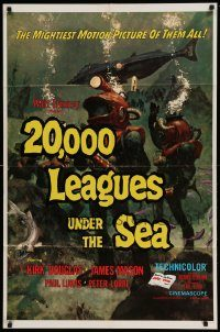 6f014 20,000 LEAGUES UNDER THE SEA 1sh R71 Jules Verne classic, wonderful art of deep sea divers!