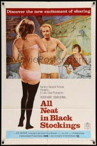 6f032 ALL NEAT IN BLACK STOCKINGS 1sh '69 Susan George, discover the excitement of sharing!