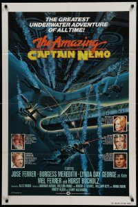 6f036 AMAZING CAPTAIN NEMO int'l 1sh '78 sci-fi art of divers in the greatest underwater adventure!