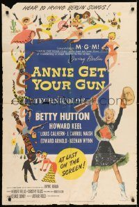 6f040 ANNIE GET YOUR GUN 1sh '50 Betty Hutton as the greatest sharpshooter, Howard Keel
