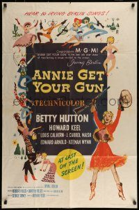 6f041 ANNIE GET YOUR GUN 1sh R62 Betty Hutton as the greatest sharpshooter, Howard Keel