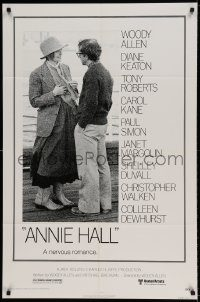 6f042 ANNIE HALL 1sh '77 full-length Woody Allen & Diane Keaton in a nervous romance!
