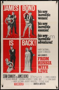 6f002 FROM RUSSIA WITH LOVE style B 1sh '64 Sean Connery as Ian Fleming's James Bond is back!