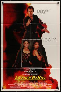 6f010 LICENCE TO KILL 1sh '89 Timothy Dalton as James Bond, sexy Carey Lowell & Talisa Soto!
