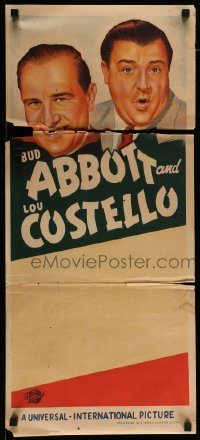 6g776 ABBOTT  COSTELLO STOCK Aust daybill 40s different art of Bud and Lou