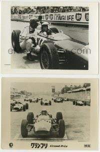 6g005 GRAND PRIX 2 Japanese stills '67 different Formula One race car driver Yves Montand!