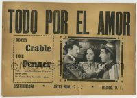 6g074 DAY THE BOOKIES WEPT Mexican LC '44 Betty Grable & Joe Penner, horse racing!
