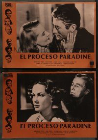 6g057 PARADINE CASE 2 Spanish LCs R82 Alfred Hitchcock, Gregory Peck, Ann Todd, different!
