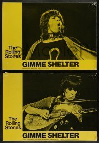 6g022 GIMME SHELTER 5 English LCs '71 Rolling Stones out of control rock & roll concert!