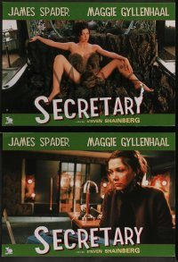6g023 SECRETARY 4 Dutch LCs '02 Maggie Gyllenhaal, James Spader, sexy images!