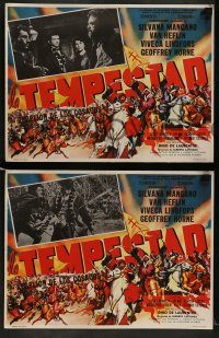 6g072 TEMPEST 7 Mexican LCs '60 Van Heflin, Silvana Mangano, Lindfors as Catherine the Great!
