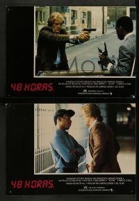 6g045 48 HRS. 10 Spanish LCs '82 police detective Nick Nolte & professional criminal Eddie Murphy!