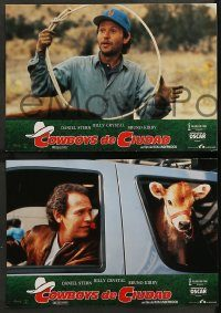 6g040 CITY SLICKERS 11 Spanish LCs '92 different images of cowboys Billy Crystal & Daniel Stern!