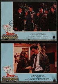 6g039 DINER 11 Spanish LCs '82 Barry Levinson, Kevin Bacon, Daniel Stern, Mickey Rourke!