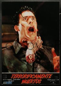 6g050 EVIL DEAD 2 6 Spanish LCs '87 directed by Sam Raimi, Bruce Campbell is Ash, Dead By Dawn!