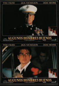6g047 FEW GOOD MEN 8 Spanish LCs '92 images of Tom Cruise, Jack Nicholson & Demi Moore!