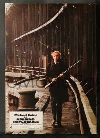 6g037 GET CARTER 12 Spanish LCs '75 great images of Michael Caine in gangster action!