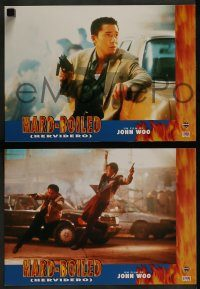 6g049 HARD BOILED 6 Spanish LCs '95 John Woo, great action images of Chow Yun-Fat!