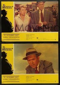 6g036 MAN WHO KNEW TOO MUCH 12 Spanish LCs R80s Alfred Hitchcock, Jimmy Stewart & Doris Day!