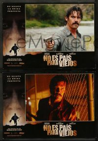 6g052 NO COUNTRY FOR OLD MEN 5 Spanish LCs '07 Coens, Josh Brolin, Javier Bardem, Tommy Lee Jones!