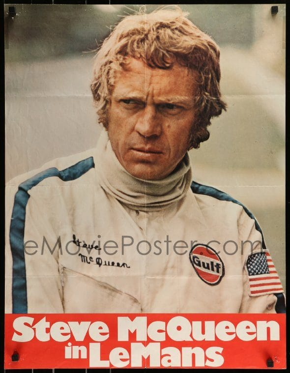 Steve mcqueen le mans movie poster
