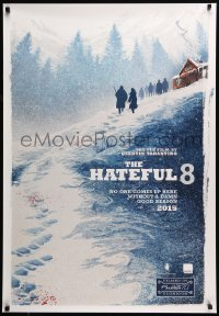 6j067 HATEFUL EIGHT teaser Canadian 1sh '15 Russell, Leigh, Jackson, great art, all English design!
