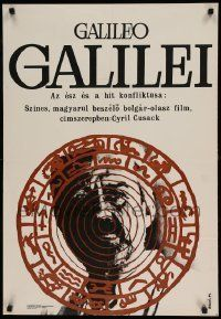6j380 GALILEO Hungarian 23x33 '69 Cyril Cusack in the title role, artwork by Erzesbet Koleszar!