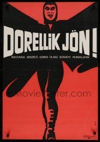 6j384 HOW TO KILL 400 DUPONTS Hungarian 22x32 '69 wild & completely different art by Laszlo Banki!
