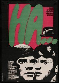 6j385 IF Hungarian 22x32 '69 different So-Ky art of Malcolm McDowell, So-Ky artwork!