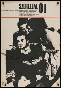 6j396 LUV Hungarian 23x33 '69 Clive Donner, Jack Lemmon, Peter Falk, completely different!