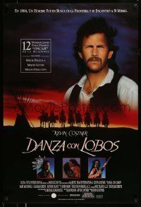 6j050 DANCES WITH WOLVES Spanish '91 Kevin Costner & Native American Indians!