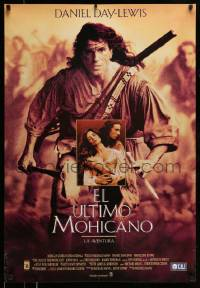 6j055 LAST OF THE MOHICANS Spanish '92 Daniel Day Lewis as adopted Native American!