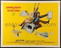 6k001 $ 1/2sh '71 bank robbers Warren Beatty & Goldie Hawn, cool action art!