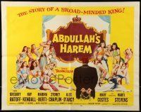 6k009 ABDULLAH'S HAREM 1/2sh '56 English sex in Egypt, art of 13 super sexy harem girls by Barton!