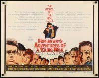 6k010 ADVENTURES OF A YOUNG MAN 1/2sh '62 Hemingway, headshots of all stars including Paul Newman!