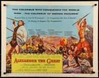6k011 ALEXANDER THE GREAT style A 1/2sh '56 Richard Burton, Frederic March as Philip of Macedonia!